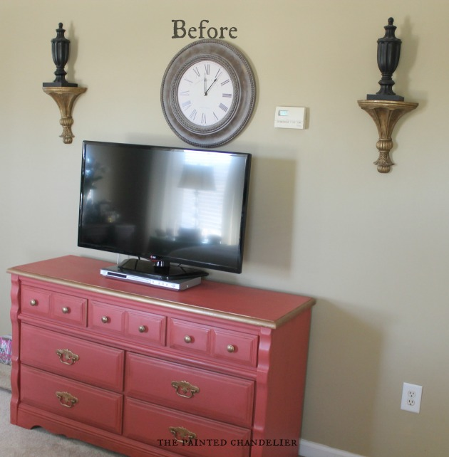 Wall Sconces Near Tv : Gallery Wall Above Dresser TV Console