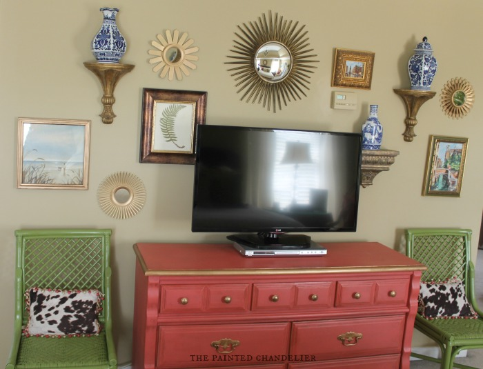 Gallery Wall Above Dresser Tv Console