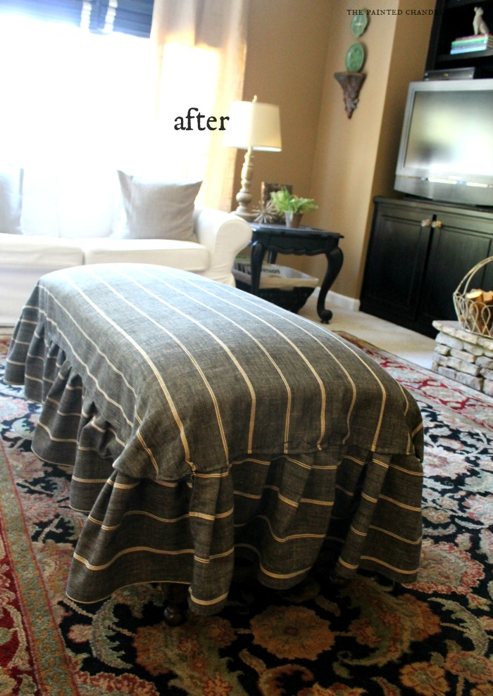 How To Make A Ruffled Skirt Slipcover For A Bench